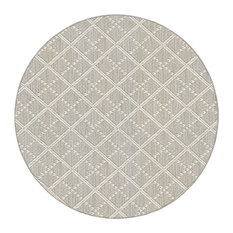 Couristan Sea Bright Accent Rug, Indoor/Outdoor, Dune, Round 6'