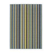 "Oriental Weavers Sphinx Caspian 1004X Striped Rug, Blue/Brown, 2'5"" x 4'5"""