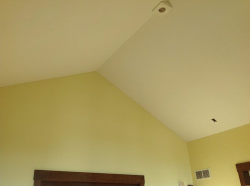 Fan And Track Lighting With Vaulted Ceiling