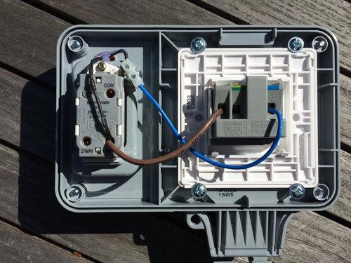help wiring external socket rh houzz com fitting an external socket wiring weatherproof socket