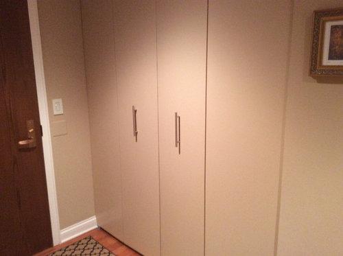 Entry Hallway Bifold Closet Door Paint Color