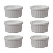 """HIC Porcelain Ramekin 8 oz., 4"""", Set of 6"""
