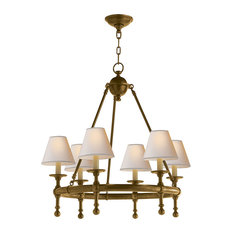 E. F. Chapman Classic Mini Ring Chandelier, Hand-Rubbed Antique Brass