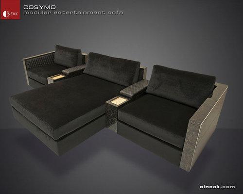 CINEAK Cosymo Modular Entertainment Sofa   Sectional Sofas