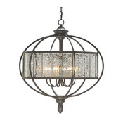 Currey & Co 9330 Florence Bronze Gold & Mirror 6 Light Chandelier
