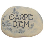 """poem stones - Carpe Diem Plaque, Outdoor Decor, Stone Garden Art, Outdoor Garden Sign - The words """"Carpe diem"""" are carved into this beautiful garden stone to be placed where you will see it and be reminded of the meaning of these words:"""