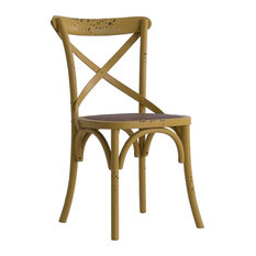 Uelzen Elm Wood Dining Chair, Mustard Yellow