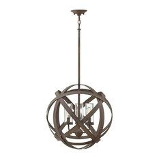 Hinkley Carson 3-Light Outdoor Chandelier, Vintage Iron