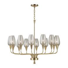 Hudson Valley Lighting Longmont Aged Brass Chandelier w/ 14 Light 60W - 4733-AGB