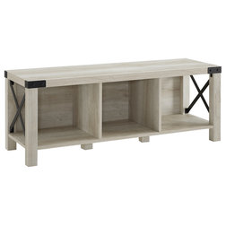 Industrial Accent And Storage Benches by Walker Edison