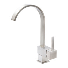 Novatto Wright Single Handle Pivotal Bar Faucet in Brushed Nickel