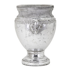 Tawnee Vase, Silver, Medium