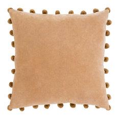 """Border 20"""" x 20"""" Solid Sage Velvet Sofa Pillow + Poly Insert"""