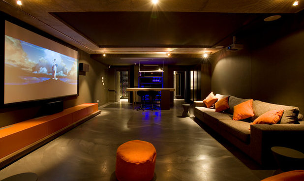 Modern Home Theatre by Minosa   Design Life Better