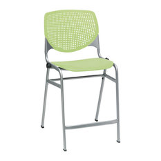 KOOL Counter Height Stool Lime Green Seat And Back