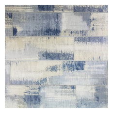 """Nature 4""""x16"""" Cement Blue Deco Glass Wall Tile, Set of 36"""
