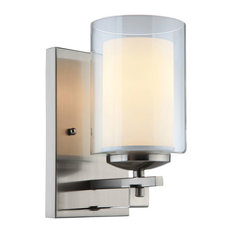 El Dorado Satin Nickel 1-Light Wall Sconce Bathroom Fixture, 20-7997