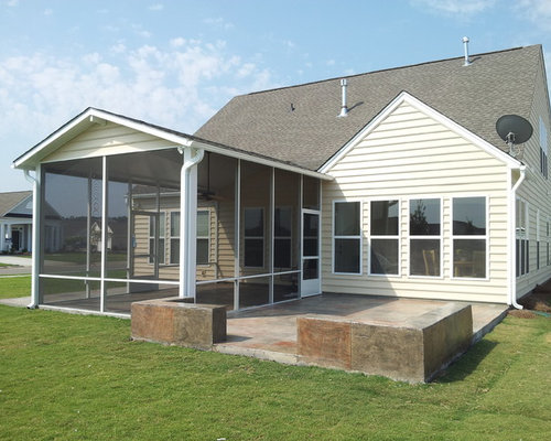 Screen Porches On Vinyl Siding Homes