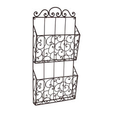 cheapchic decor callie 2tier wall mounted wrought iron magazine holder