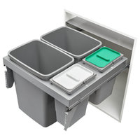 Double 35/8 Quart Steel Top Mount Waste Container