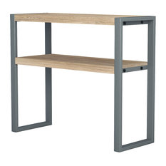 Asta Teak And Iron Console Table Industrial Modern