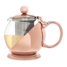 Shelby Wrapped Teapot & Infuser by Pinky Up, Rose Gold