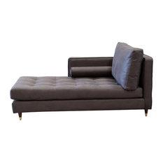 Pablo Chaise Lounge Left, Dark Brown (Grey)