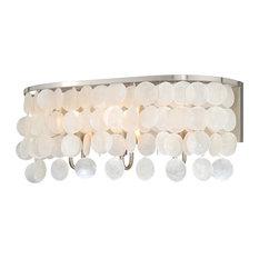 Elsa Capiz Shell 3-Light Vanity Satin Nickel