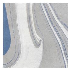 Canvas Blue Decorative Vintage Porcelain Tile