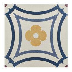 """7.88""""x7.88"""" Piccola Porcelain Floor and Wall Tiles, Saint Tropez, Saint Tropez"""