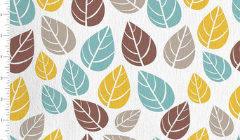 Leaves 100% Cotton Fabric for Upholstery, Curtains, Cushions