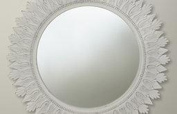 Round Mirror, White