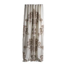 """Enchantique Ivory and Sand Cotton Window Curtain, 54""""x108"""""""