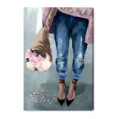 """Falling Flowers"" Canvas Art Print, 75x115 cm"