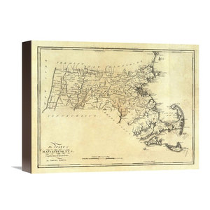 Connecticut 1795 Stretched Canvas Giclee By Mathew Carey 16 X13 Contemporary Prints And Posters By Global Gallery