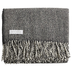 Handmade Tweed Emphasize Blanket by Mourne Textiles, Monochrome II