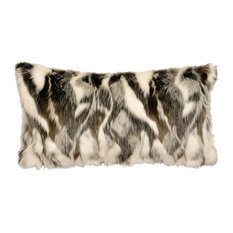 "Forest Fox Fur Pillow, 14""x26"""
