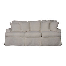Beau 1st Avenue   Whitman Sofa With Slip Cover, Light Gray   Sofas