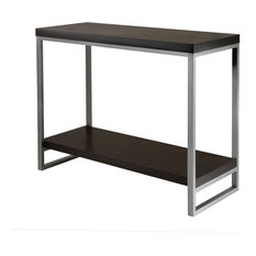 Winsome Wood Modern Dark Espresso Composite Wood and Metal Console Table