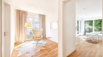 """leere Penthouse-Wohnung wird ein modernes  """"Zuhause"""""""