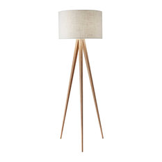 Adesso Director Floor Lamp, Natural