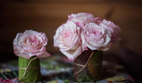 DIY : Des vases tout de feuilles vêtus