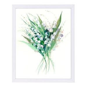 """""""Lilies Of The Valley Suren 1,"""" Art Print, 9""""x11""""x1"""""""
