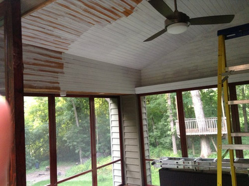 Painting Wood Ceiling White
