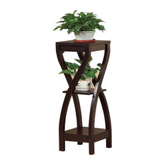 Elegant Design Large Plant Stand, Dark Brown