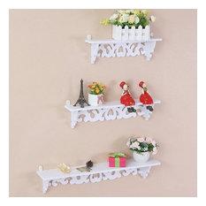 Filigree Shabby Chic Set Of 3 Floating Shelves