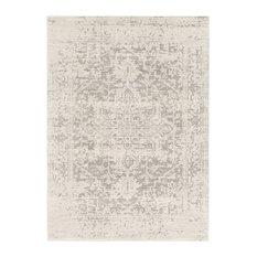 """Harput Traditional Black and Light Gray Area Rug, 9'3""""x12'6"""""""