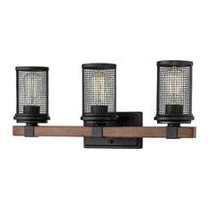 Millennium-Lighting Industrial 3-Light Mesa Vanity