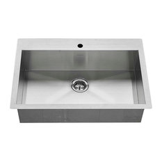 "American Standard - American Standard 18SB.9332211.075 33"" Single Basin Stainless Steel Kitchen Sink - Kitchen Sinks"