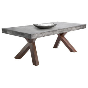 Jagger Rectangular Dining Table Midcentury Tables By Rustic Edge Houzz